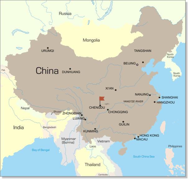 China: Chengdu on